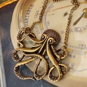 Long Vintage Octopus Necklace